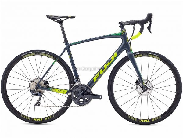 Fuji Gran Fondo 1.3 Road Bike 2020 52cm, 56cm, Blue, Yellow, Carbon Frame, Disc Brakes, 22 Speed, Double Chainring, 700c Wheels, 8.94kg