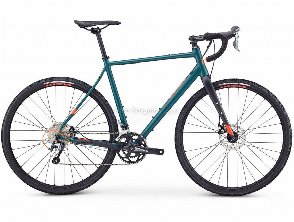 Fuji Jari 1.5 Adventure Gravel Bike 2020 52cm, Green, Black, Alloy Frame, Disc Brakes, 20 Speed, Double Chainring, 700c Wheels, 10.54kg