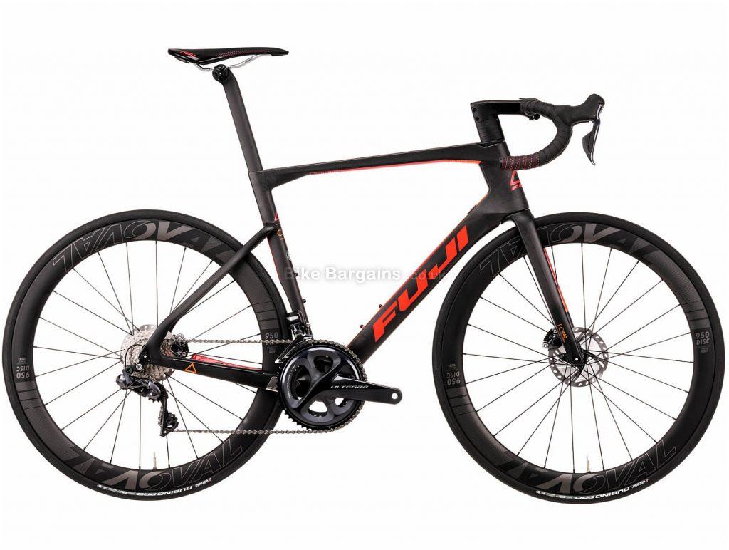 Fuji Transonic 2.1 Disc Road Bike 2020 52cm, Black, Orange, Carbon Frame, Disc Brakes, 22 Speed, Double Chainring, 700c Wheels, 8.06kg