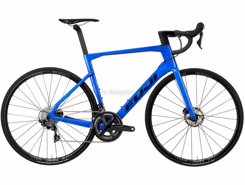 Fuji Transonic 2.3 Disc Road bike 2020 54cm, Blue, Carbon Frame, Disc Brakes, 22 Speed, Double Chainring, 700c Wheels, 8.46kg