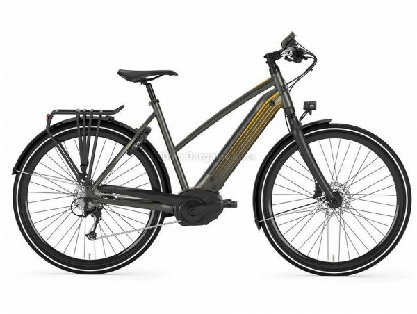 Gazelle Cityzen T10 HMB Ladies Alloy Electric Bike 2018 49cm, Grey, Black, Ladies, Disc Brakes, Single Chainring, 10 Speed, 22kg, Alloy, Road