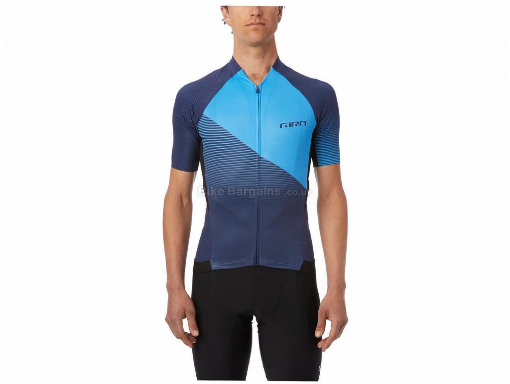 Giro Chrono Pro Short Sleeve Jersey S, Blue, Black, Grey, Short Sleeve