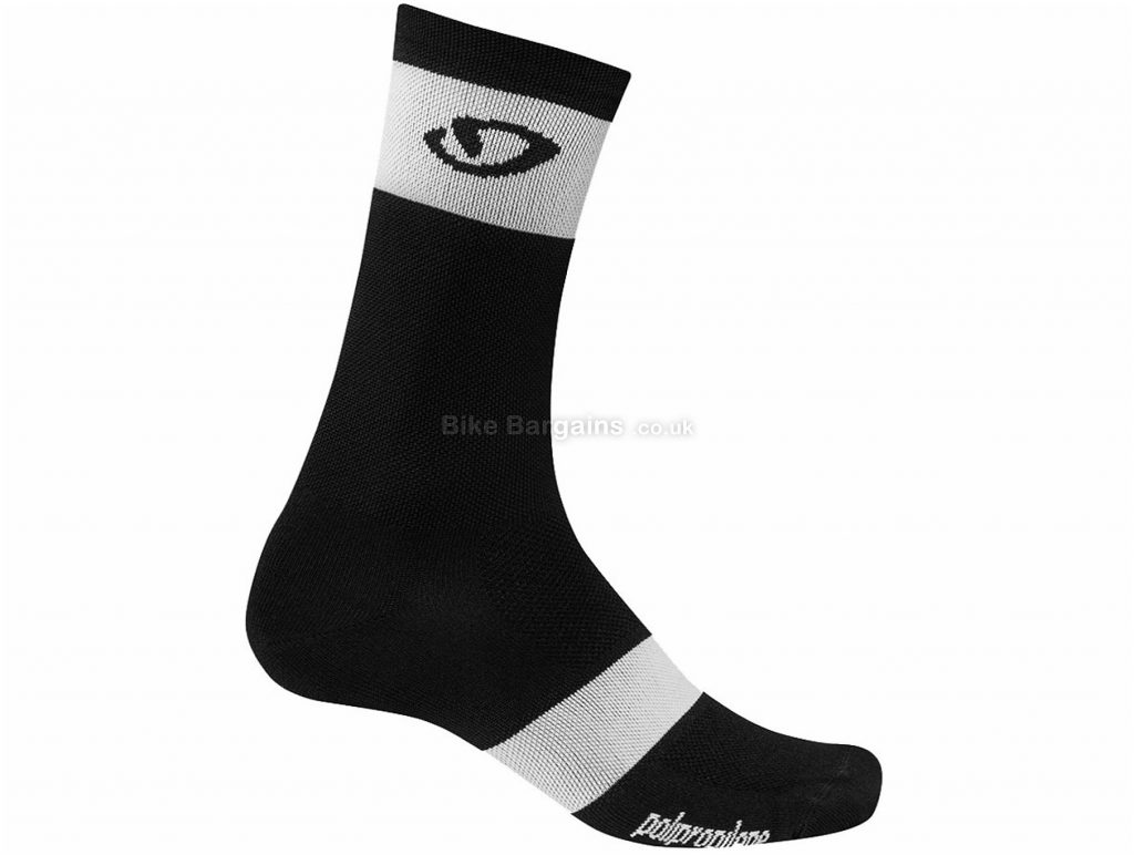 Giro Comp Racer High Rise Socks S,M,L,XL, Black, White