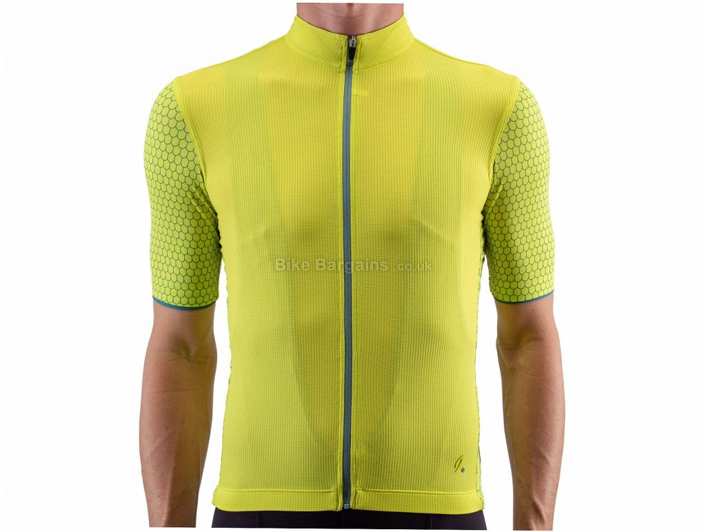 Isadore Climber's 2.0 Short Sleeve Jersey S,M,L,XL, Green, Yellow, Short Sleeve