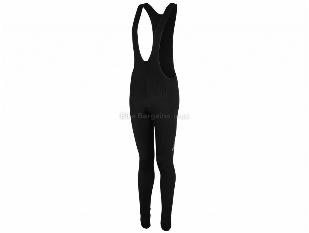 Isadore Ladies Thermo Roubaix Bib Tights XL, Black, Ladies, Elastane, Polyamide, Polyester, Water Repellent