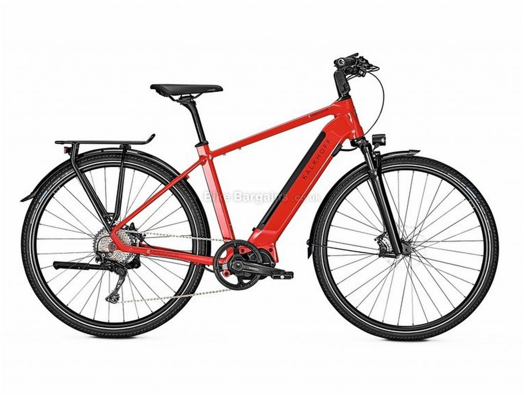 Kalkhoff Endeavour 5.S Excite Diamond Alloy Hardtail Electric Bike 2019 L, Red, Black, Alloy, Hardtail, Disc Brakes, 11 Speed, 700c, Men's, Single Chainring