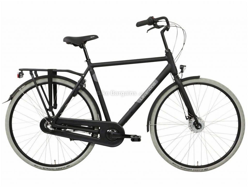 Laventino Glide 3 Alloy City Bike 2020 61cm, Black, Alloy Frame, 3 Speed, Rigid, Men's Bike, 17.5kg