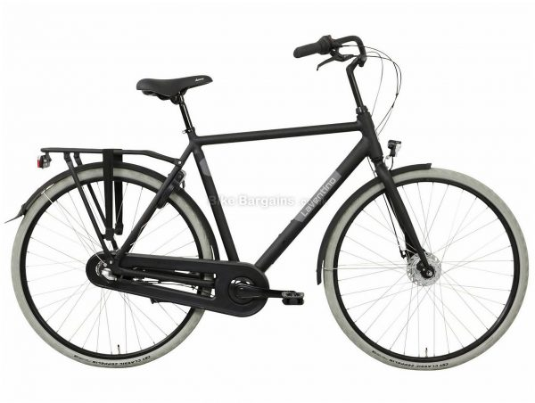 Laventino Glide 3 Alloy City Bike 2020 61cm, Black, Alloy Frame, 3 Speed, Rigid, Men's Bike, 17.5kg