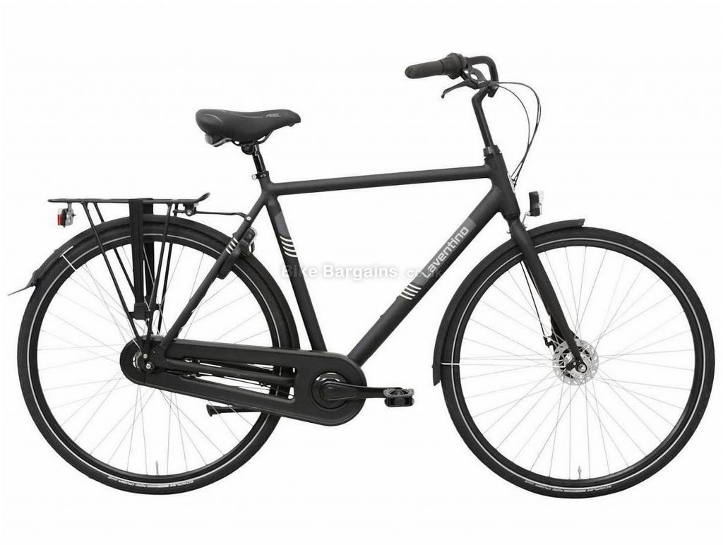 Laventino Glide 7 Alloy City Bike 2020 61cm, Black, Alloy Frame, 7 Speed, Rigid, Men's Bike, 17.8kg