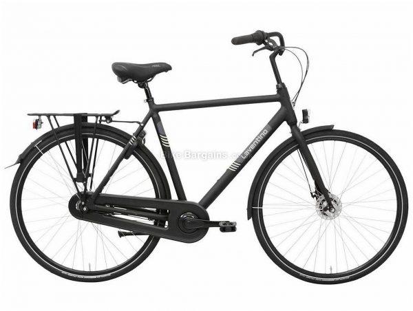 Laventino Glide 7 Alloy City Bike 2020 61cm, Black, Alloy Frame, 7 Speed, Rigid, Men's Bike, 17.8kg