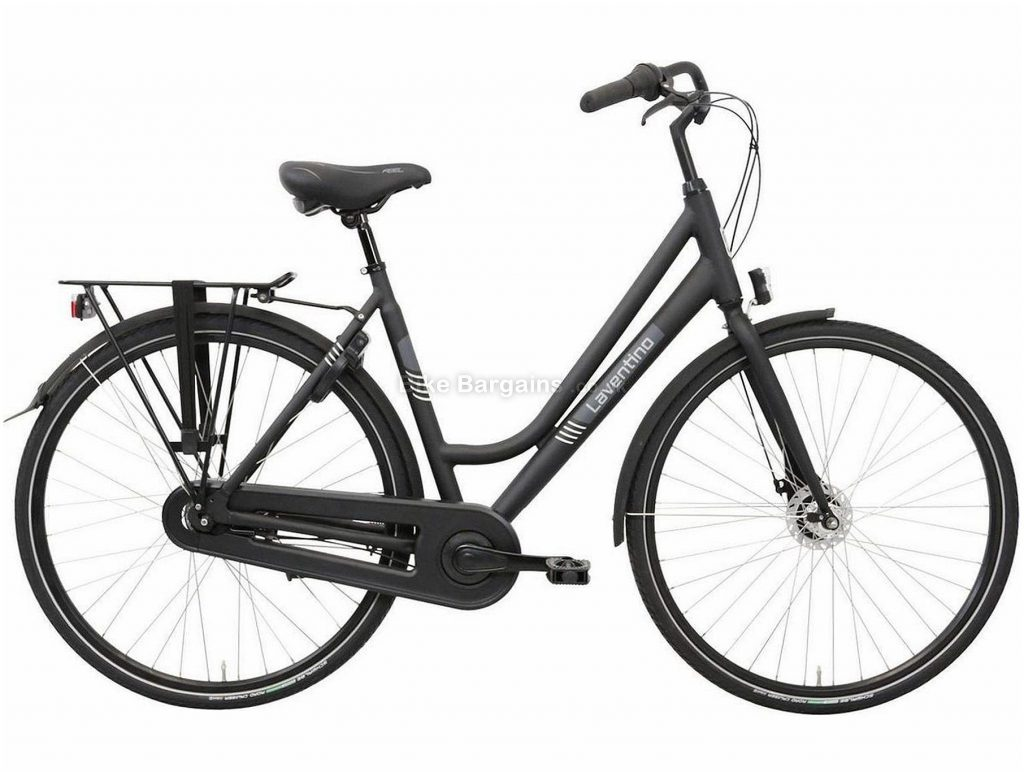 Laventino Glide 7 Ladies Alloy City Bike 53cm, Black, Alloy Frame, 7 Speed, Rigid