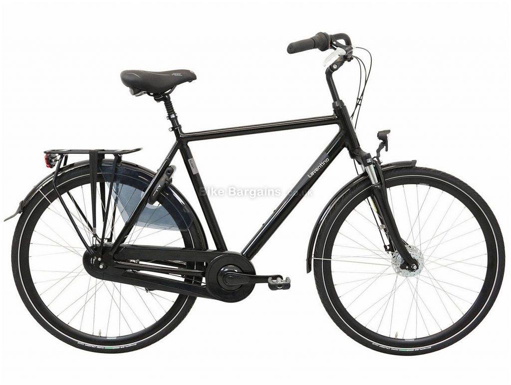 Laventino Glide 8+ Alloy City Bike 2020 61cm, Black, Alloy Frame, 8 Speed, Front Suspension, Men's Bike, 18.2kg