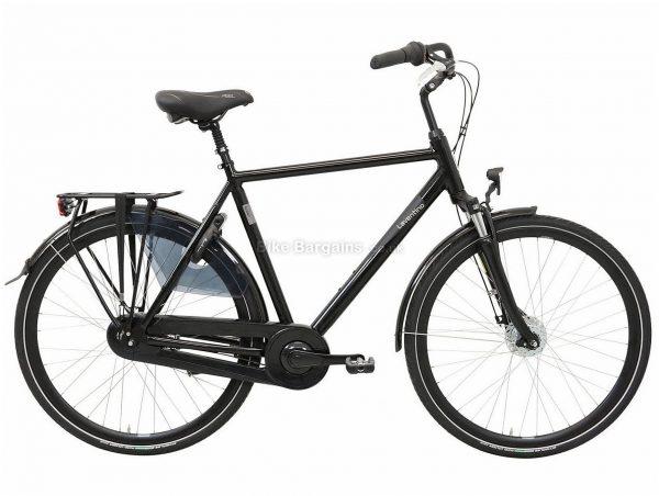 Laventino Glide 8+ Alloy City Bike 2020 61cm, Black, Alloy Frame, 8 Speed, Front Suspension, Men's Bike, 18.2kg