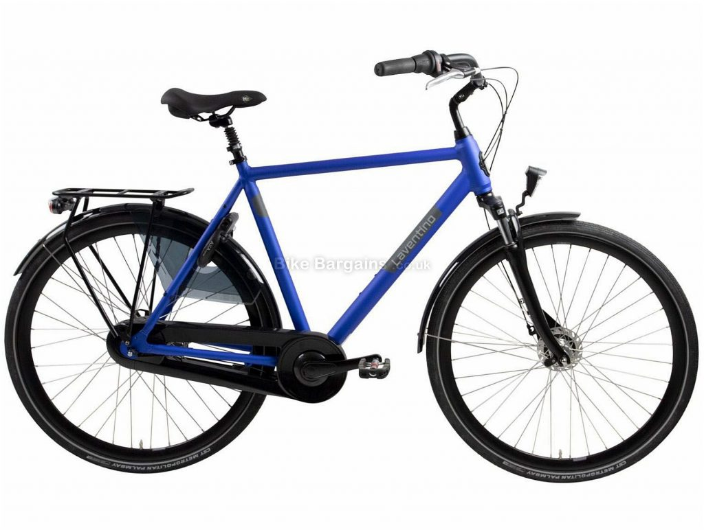 Laventino Glide 8 Alloy City Bike 2020 53cm, 57cm, 61cm, Blue, Alloy Frame, 8 Speed, Front Suspension, Men's Bike, 18.2kg