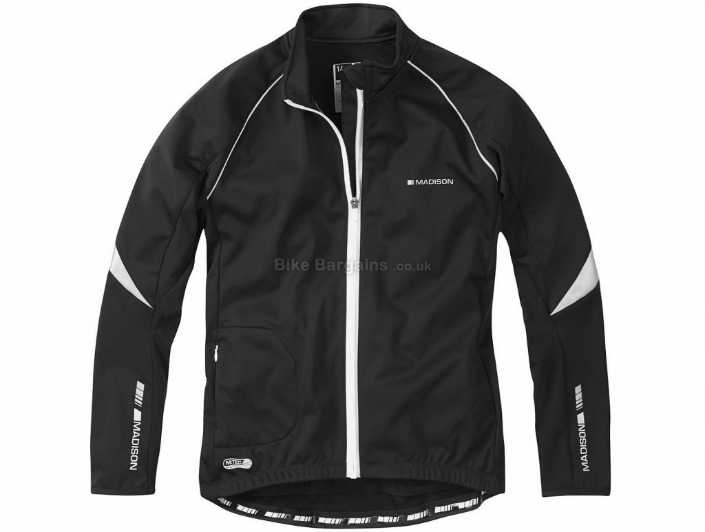 Madison Sportive Windproof Ladies Softshell Jacket 16, Black, Windproof And Water Resistant, Ladies, Long Sleeve, Polyester, Road, MTB