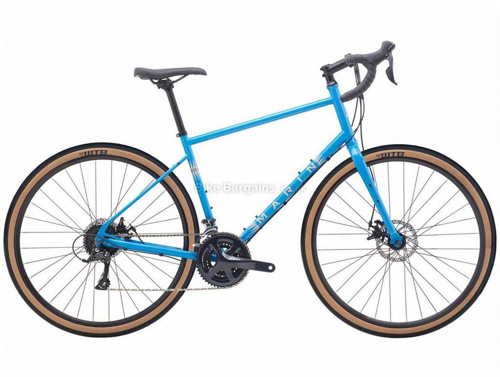 "Marin Four Corners Steel Gravel Bike 2020 XS, Blue, Black, Steel Frame, Rigid Forks, 27.5"" / 700c wheels, 27 Speed, Disc Brakes"
