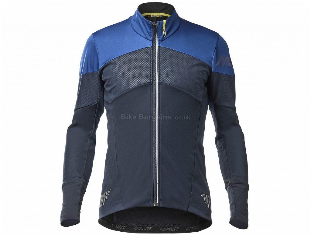 Mavic Cosmic Thermo Jacket S, Black, Blue, Wind-Blocking, Breathable, Long Sleeve, Men's, Polyester, Elastane