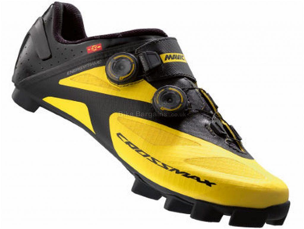 Mavic Crossmax SL Ultimate MTB Shoes 38, Black, Yellow, Carbon Sole, Boa Closure, MTB Usage
