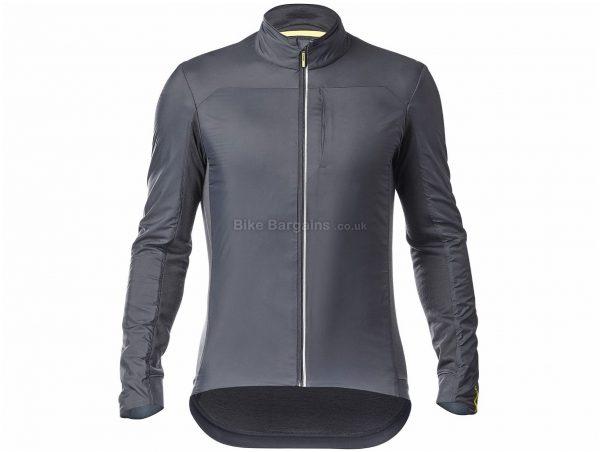 Mavic Essential Insulated SL Jacket M, Black, Grey, Breathable, Long Sleeve, Men's, Polyamide, Polyester, Merino, Wool