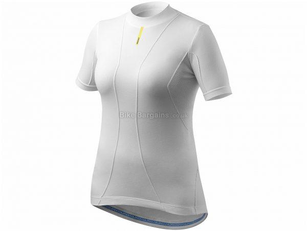 Mavic Ladies Cold Ride Short Sleeve Base layer XL,XXL, White, Seamless Construction, Short Sleeve, Polyester, Polyamide, Elastane
