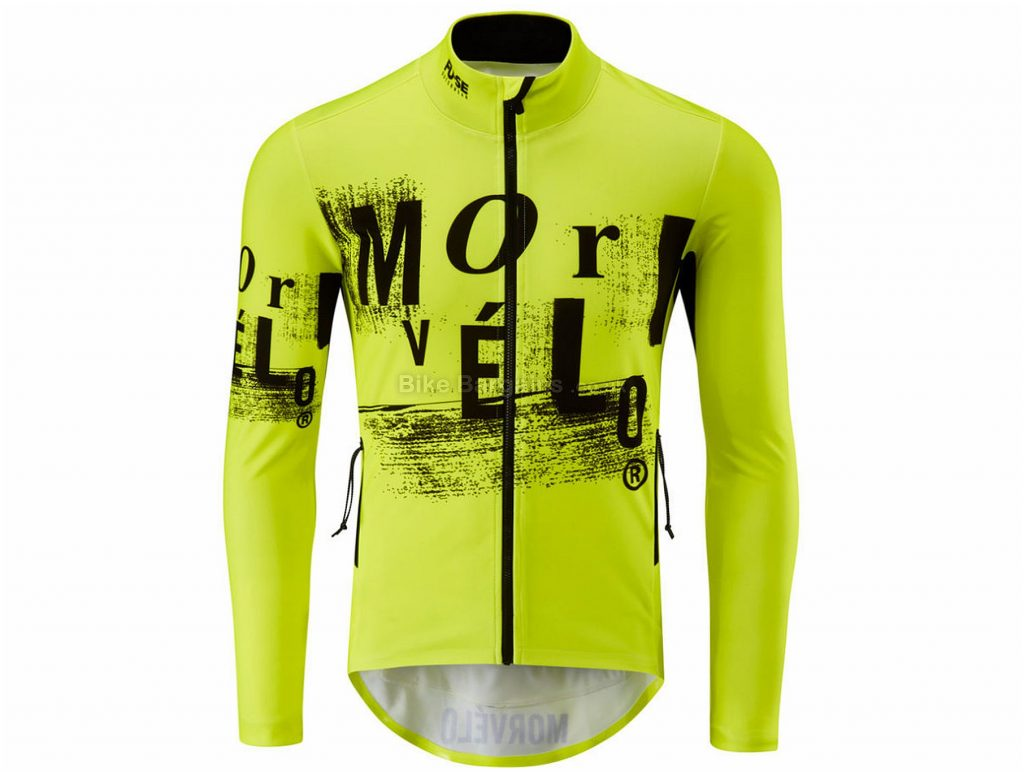 Morvelo FU-SE Softshell Karson Jacket XS, Yellow, Black, Windproof & Water-Repellent, Men's, Long Sleeve, Polyester
