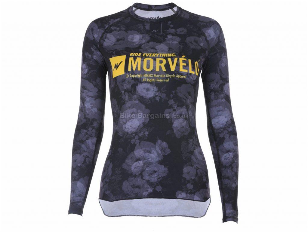 Morvelo Ladies Digger Long Sleeve Base layer XXL, Black, Blue, Yellow, Long Sleeve, Polyester, Elastane, Ladies