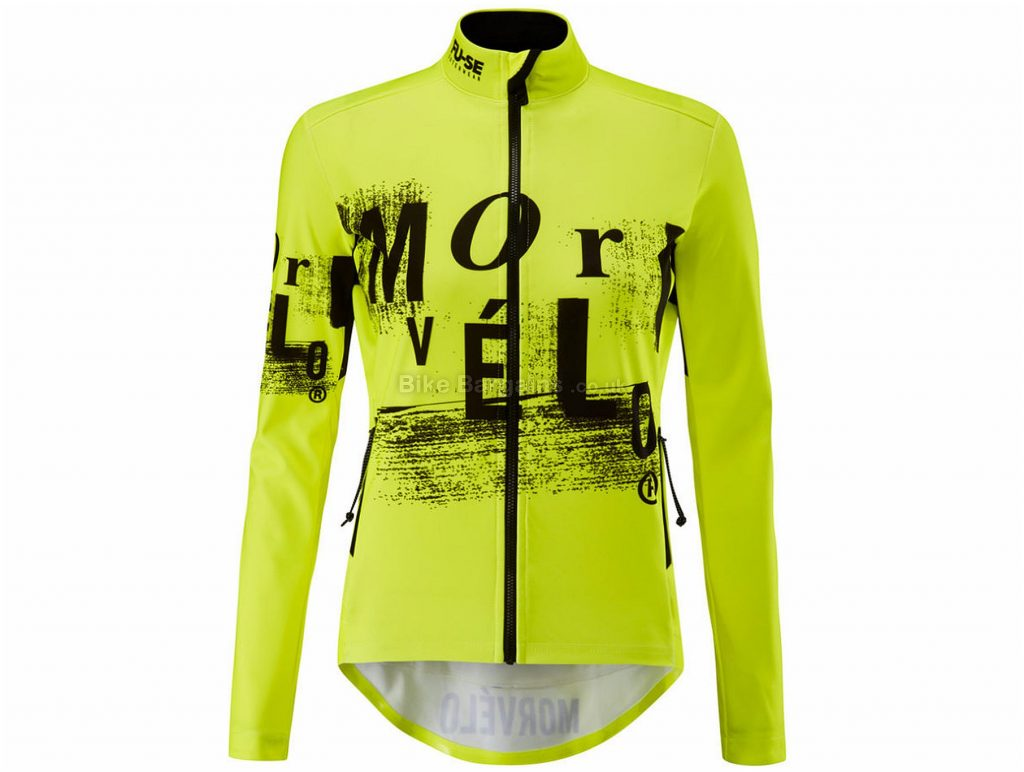 Morvelo Ladies FU-SE Softshell Karson Jacket XS, Yellow, Black, Water Repellent (Dwr) Finish, Ladies, Long Sleeve, Polyester