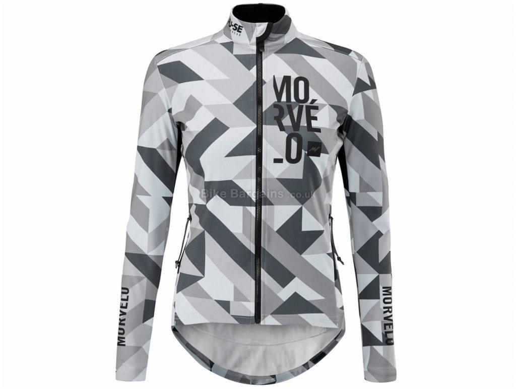 Morvelo Ladies FU-SE Softshell Winter Attack Jacket XXL, Grey, White, Long Sleeve, Polyester, Ladies