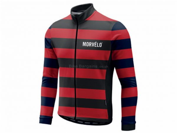 Morvelo Menace Long Sleeve Jersey S, Black, Red, Long Sleeve