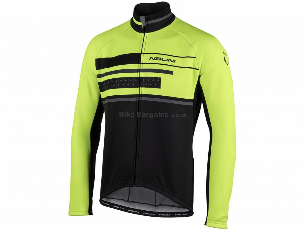 Nalini AHW WS Classica Jacket M, Black, Yellow, Thermal, Breathable, Long Sleeve, Men's, Polyester, Polyamide, Elastane