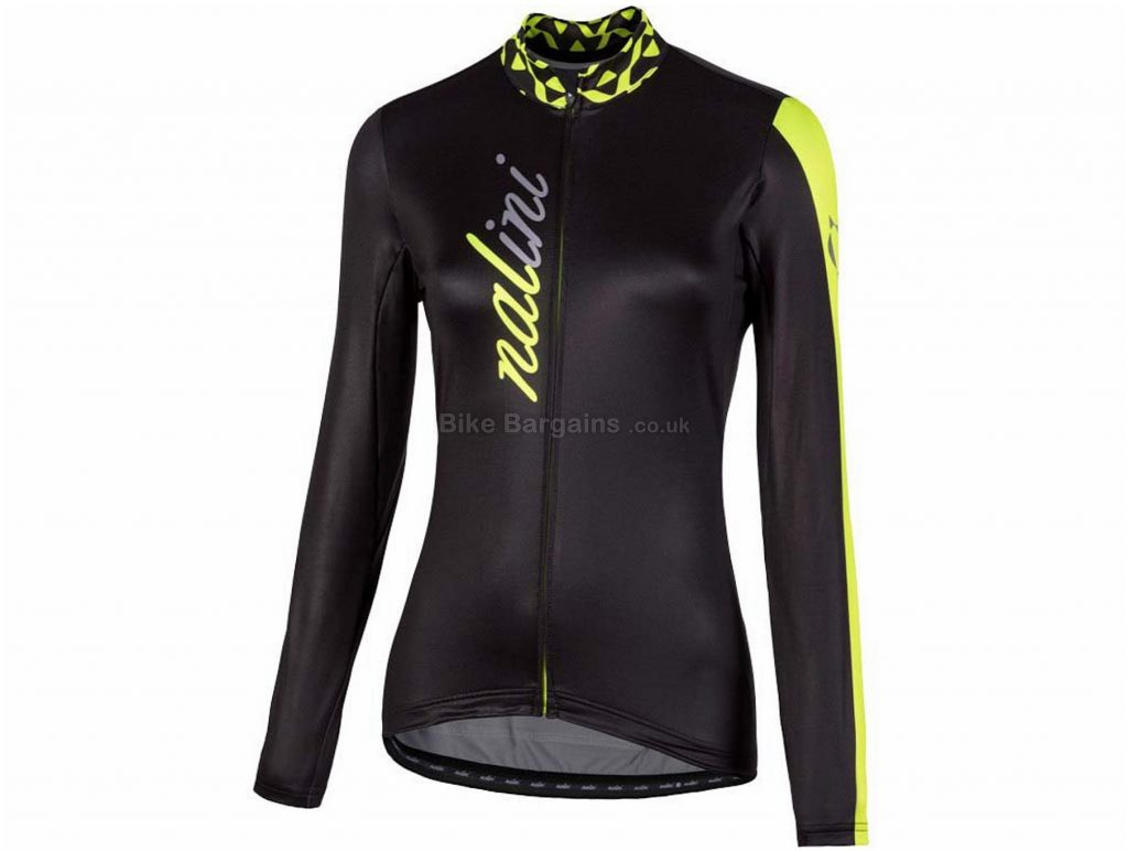 Nalini Ladies AHWLW Long Sleeve Jersey XL, Black, Yellow, Comfortable Fit, Long Sleeve, Polyester, Elastane, Polyamide