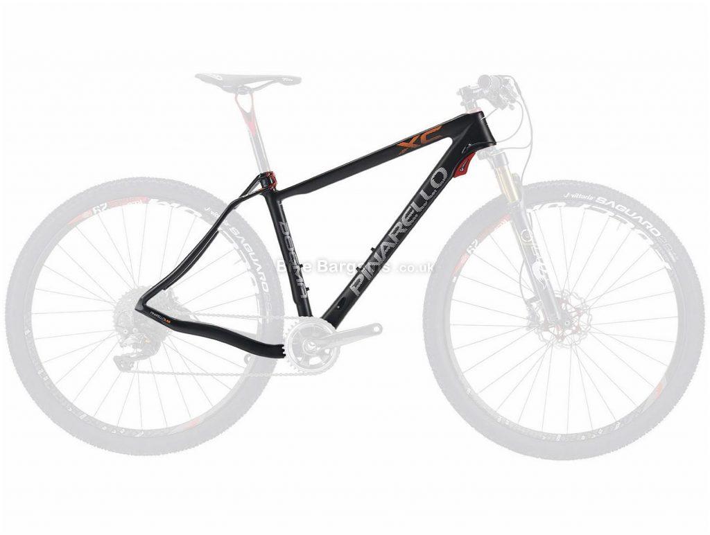 "Pinarello Dogma Xc16 Carbon Hardtail MTB Frame S, Black, Orange, Carbon Frame, 27.5"" wheels, Disc Brakes, Hardtail, weighs 1.05kg, Black, Orange"