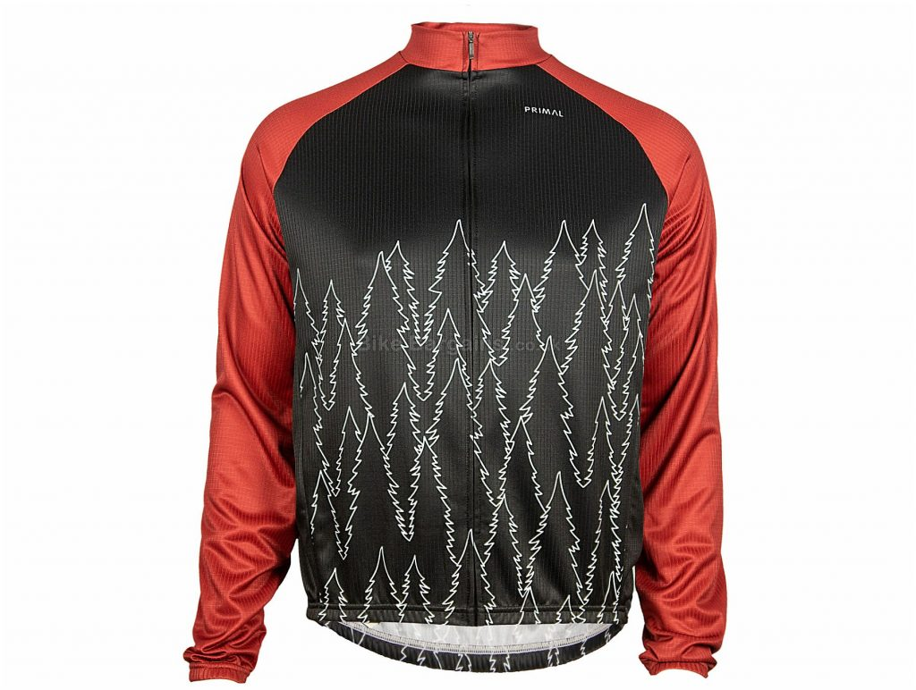 Primal Belford Heavyweight Long Sleeve Jersey XS, Black, Red, Blue, Turquoise, Yellow, Baggy Fit, Men's, Long Sleeve, Polyester
