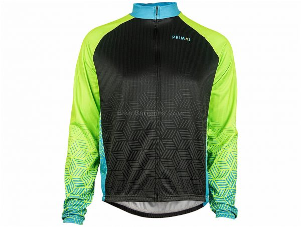 Primal Blackburn Heavyweight Long Sleeve Jersey XS,S, Black, Blue, Baggy / Relaxed Fit, Men's, Long Sleeve, Polyester
