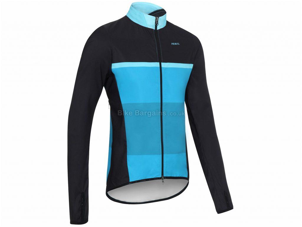 Primal Blue Gene Wind Jacket XS, Black, Turquoise, Blue, Windproof, Men's, Long Sleeve, Polyester