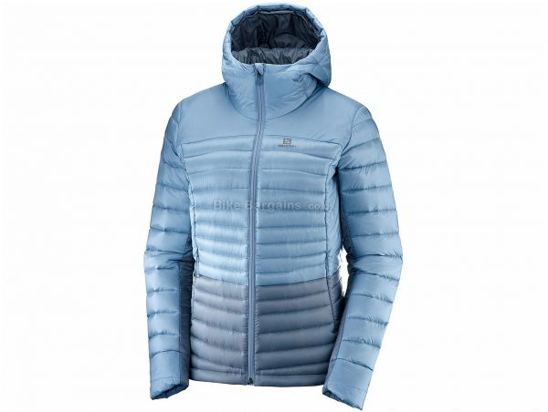 Salomon Haloes Down Hybrid Ladies Jacket XL, Blue, Softshell Fabric, Long Sleeve, Polyamide, Elastane