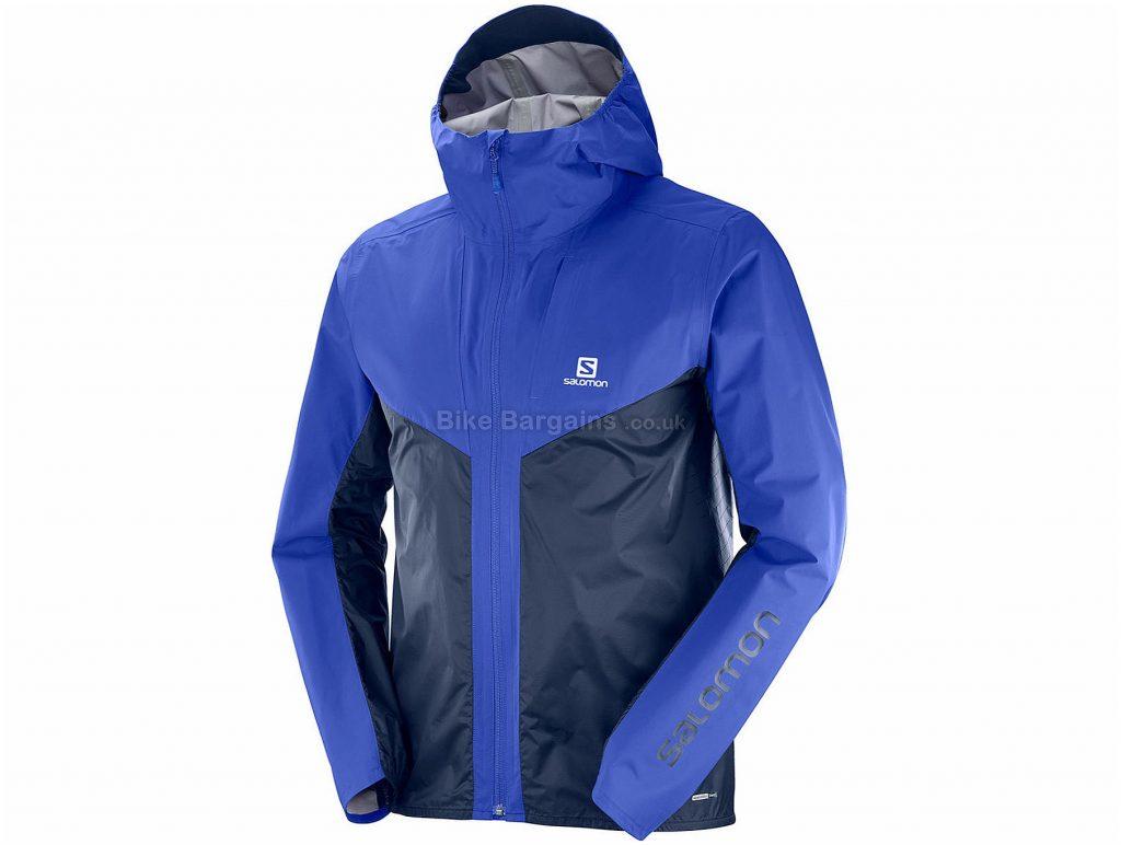 Salomon Outspeed Hybrid Jacket S, Blue, Lightweight, Long Sleeve, Polyester Polyamide
