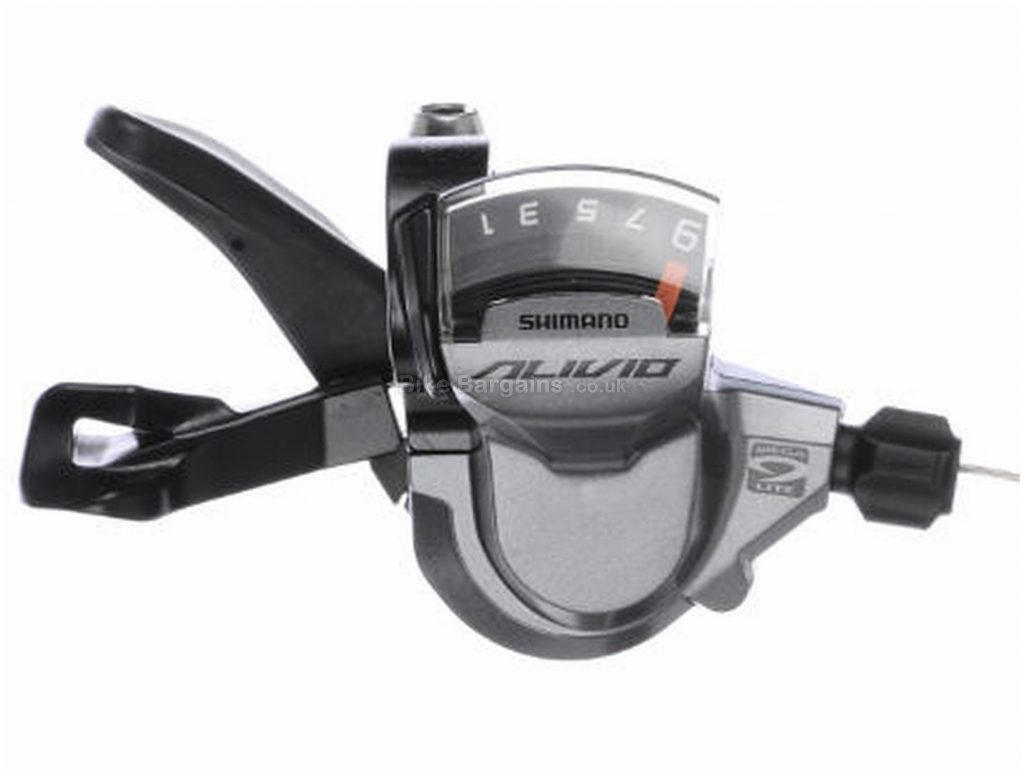 Shimano Alivio M4000 9 Speed Trigger Shifter Front, Silver, 9 Speed, Alloy