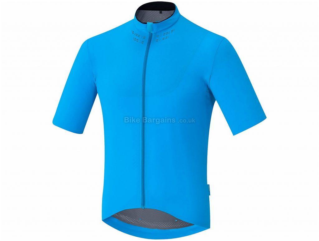 Shimano Evolve Short Sleeve Jersey S, Black, Blue, Lightweight, Men's, Short Sleeve, Polyamide, Elastane