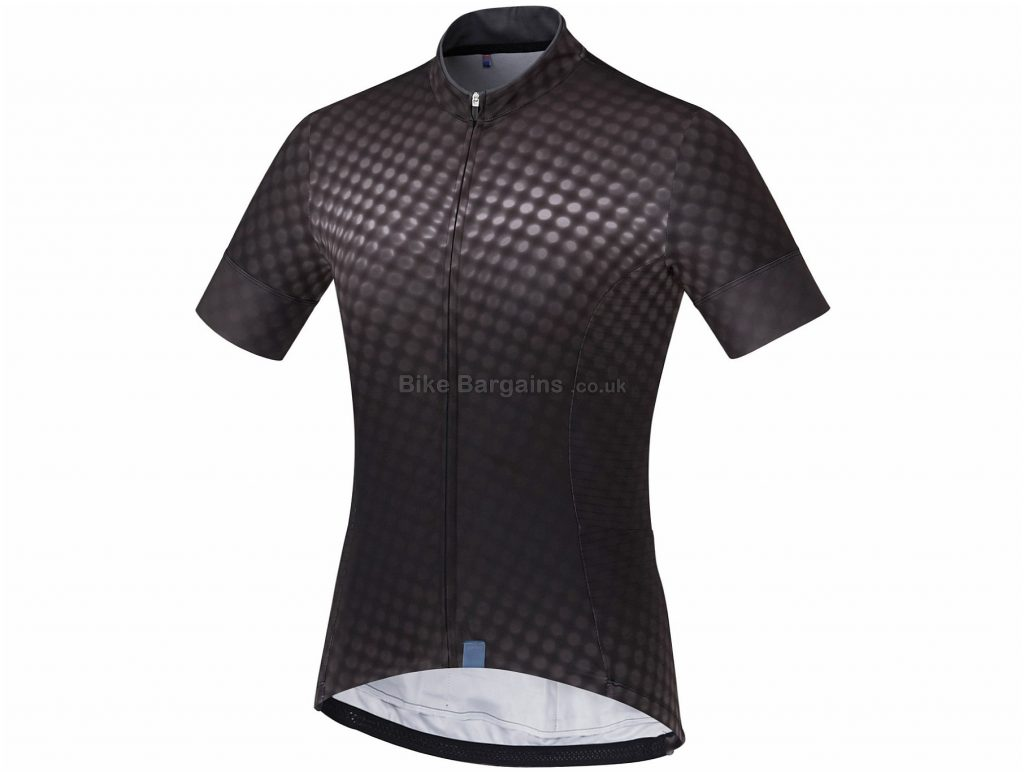 Shimano Ladies Sumire Short Sleeve Jersey XL, Black, Lightweight Summer Jersey, Ladies, Short Sleeve, Polyester