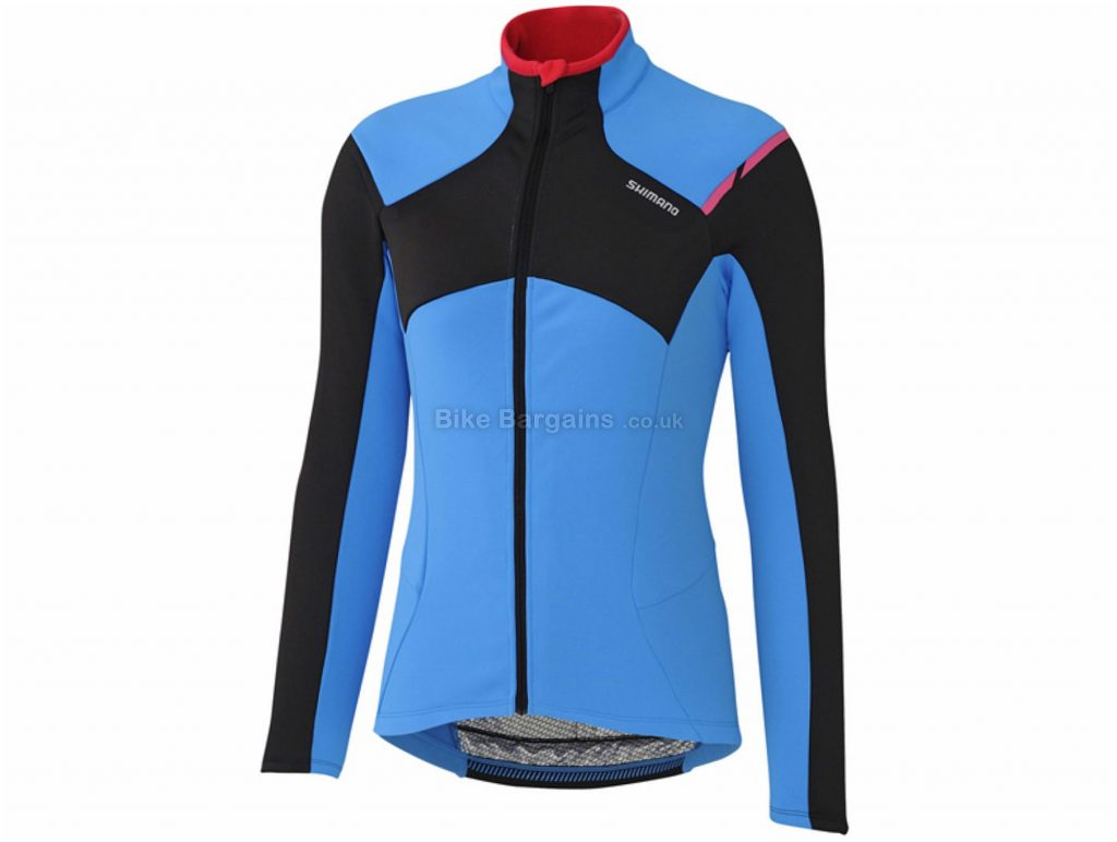 Shimano Ladies Thermal Winter Long Sleeve Jersey XL, Blue, Black, Thermal, Breathable, Ladies, Long Sleeve, Polyester, Elastane