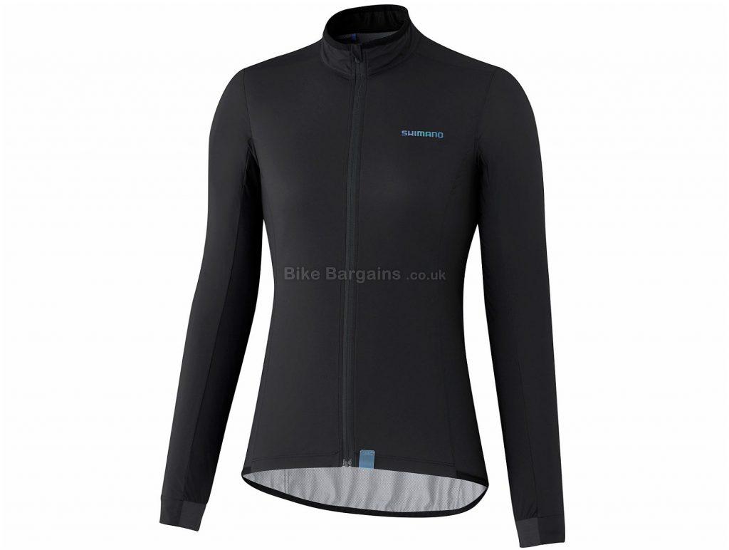 Shimano Ladies Variable Condition Jacket L, Black, Ultra Lightweight, Nearly Waterproof, Ladies, Long Sleeve, Polyamide