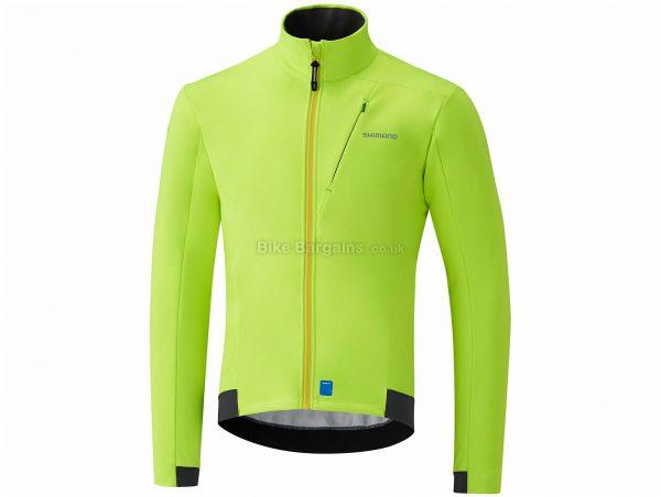 Shimano Wind Jacket S, Yellow, Windproof Fabric, Men's, Long Sleeve, Polyester, Elastane