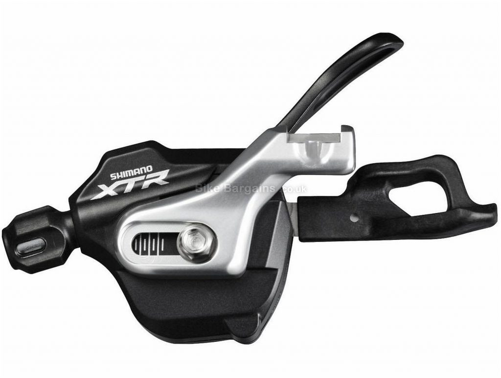 Shimano XTR M980 10 Speed Rapidfire Shifter Left, 2/3 Speed, Black, Silver, Alloy, 103g, 10 Speed