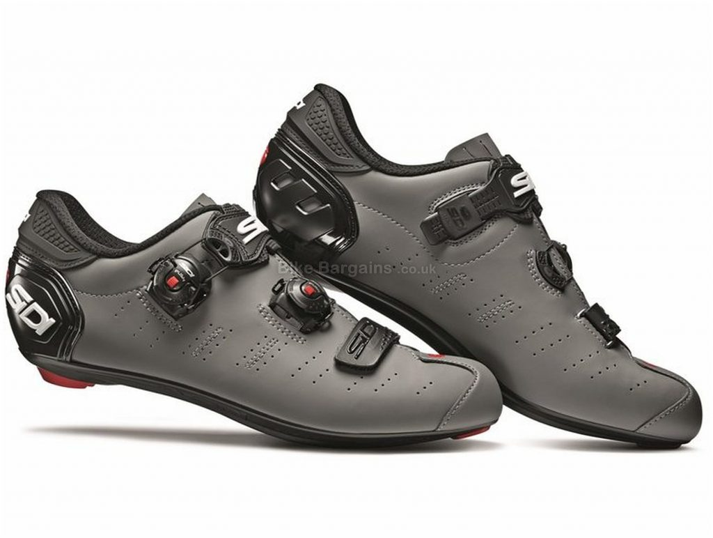 Sidi Ergo 5 Matt Giro D'Italia Ltd Edition Road Shoes 41, Grey, Black, Carbon Sole, Buckle, Velcro & Boa Closure, Road Usage
