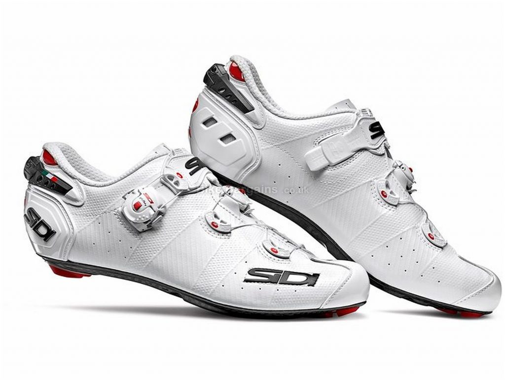 Sidi Wire 2 Carbon Ladies Road Shoes 41, White, Black, Carbon Sole, Buckle, Velcro & Boa Closure, Road Usage