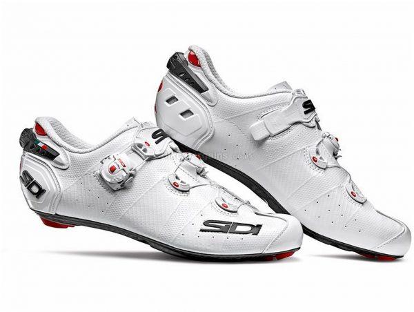 Sidi Wire 2 Carbon Ladies Road Shoes 41, White, Black, Carbon Sole, Buckle, Velcro & Boa Closure, Road Usage