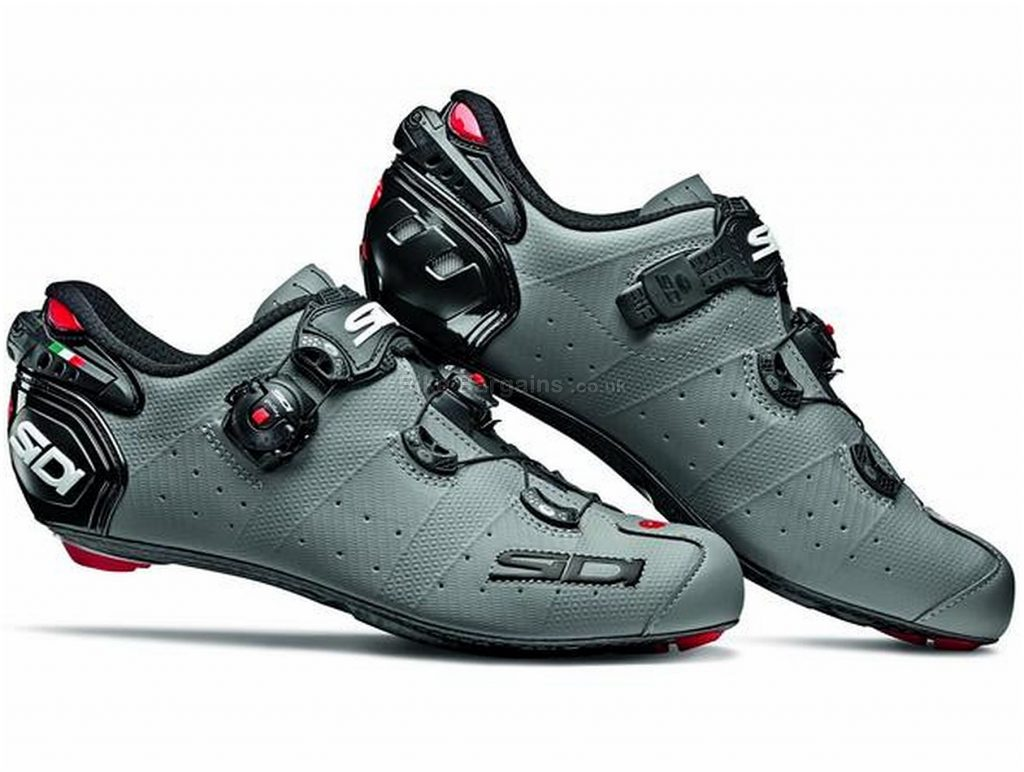 Sidi Wire 2 Matt Carbon Road Shoes 42, Grey, Carbon Sole, Buckle & Boa Closure, Road Usage