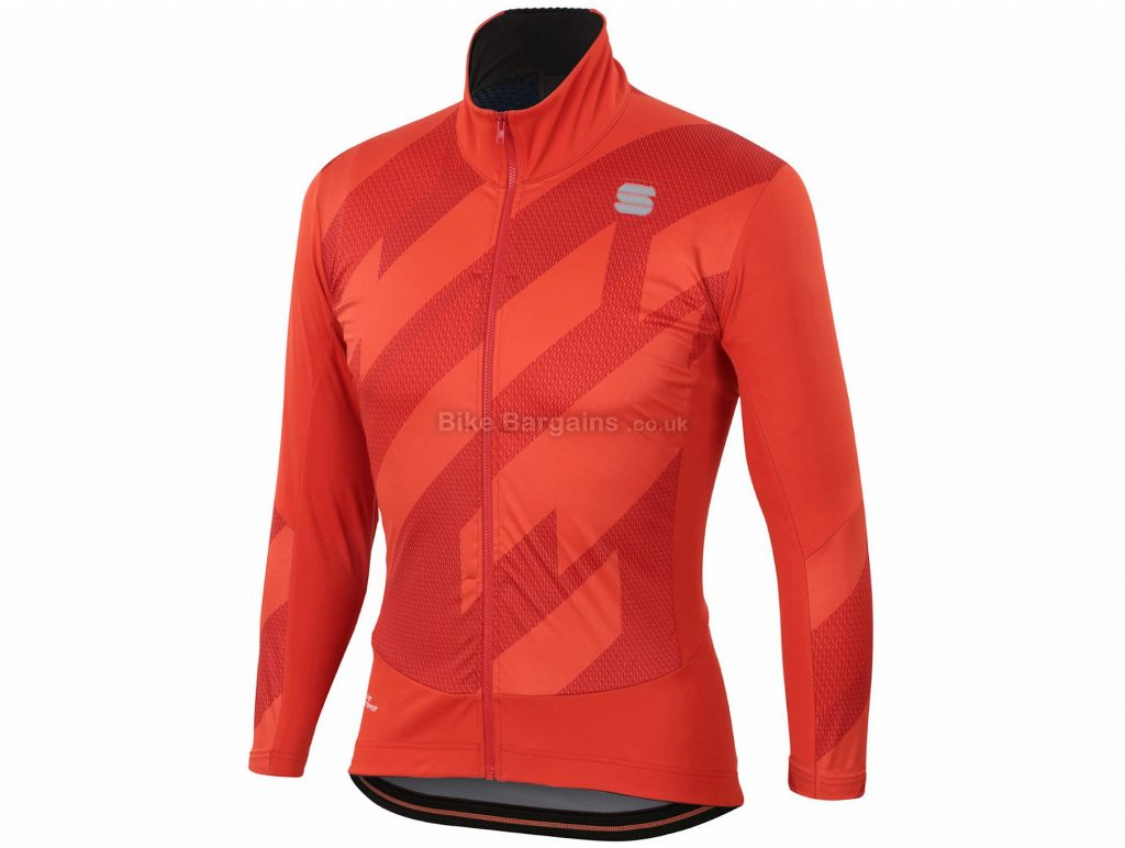Sportful Attitude Jacket M,L, Red, Warm, Windproof & Water Resistant, Long Sleeve, Men's, Polyester, Elastane, Polyester