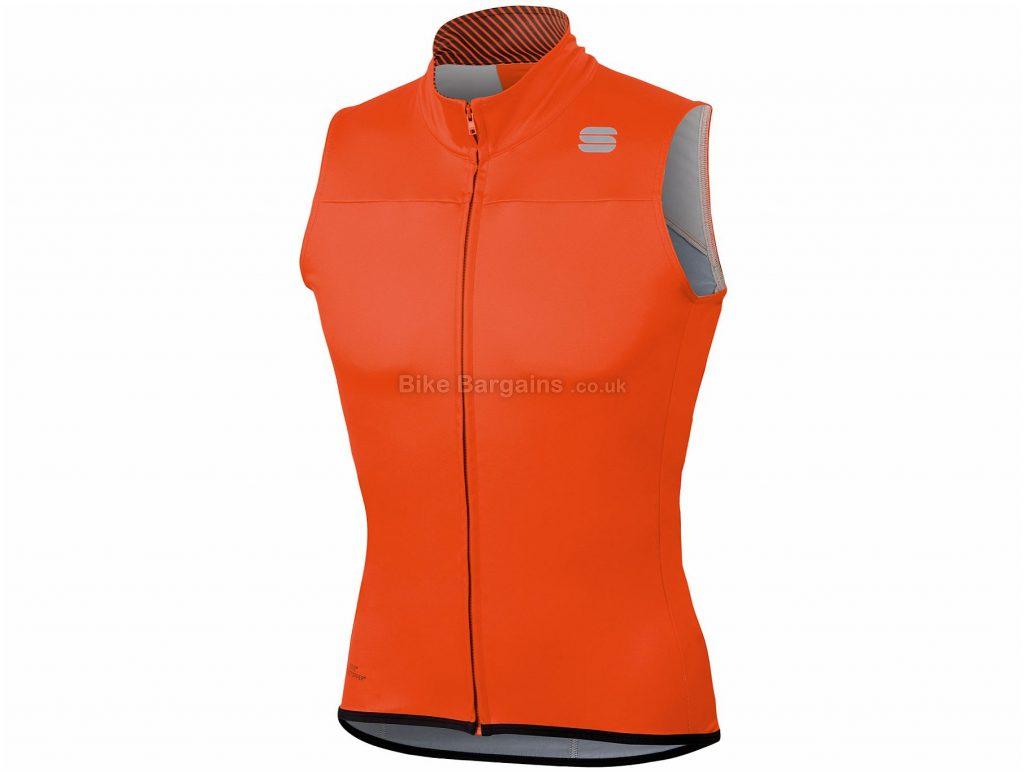 Sportful BodyFit Pro Windstopper Gilet L, Red, Lightweight, Insulated, Men's, Sleeveless, Polyester, Elastane
